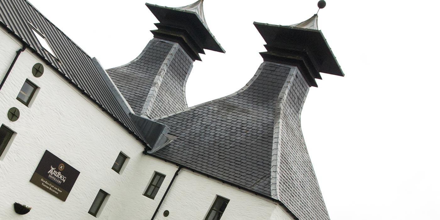 Ardbeg - one of the many whisky distilleriies on Islay. Original image courtesy Benoit Plumat