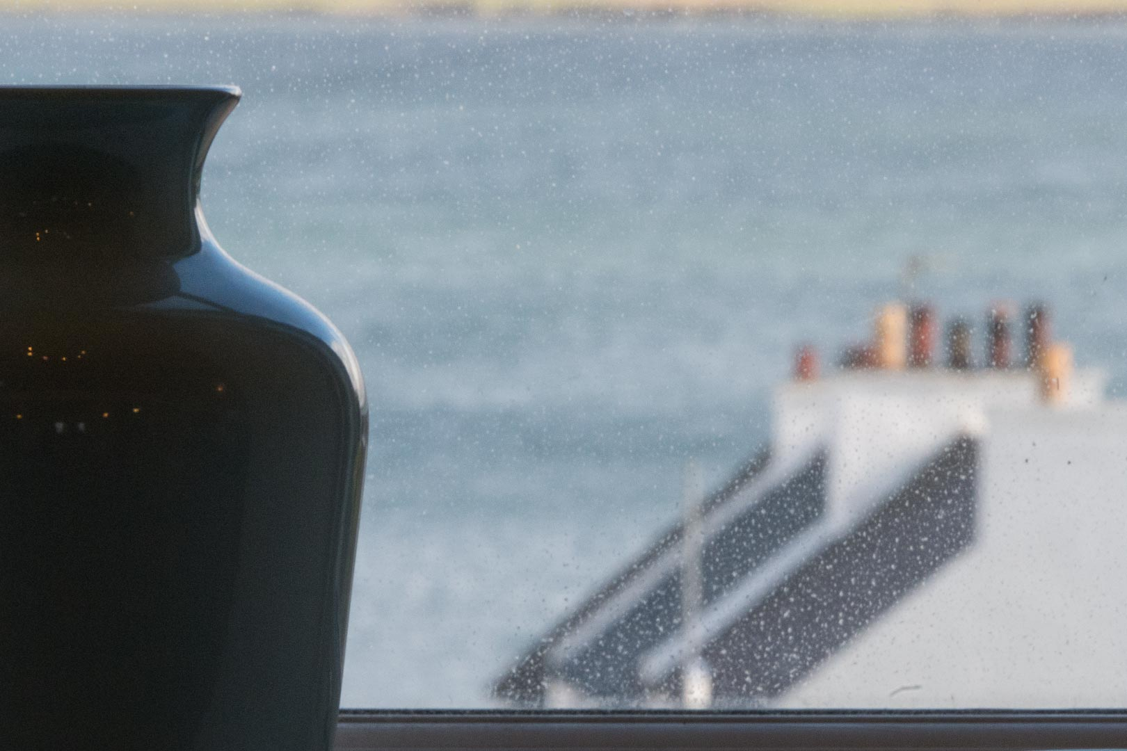 Kilchoman apartment: views over the rooftops to Loch Indaal