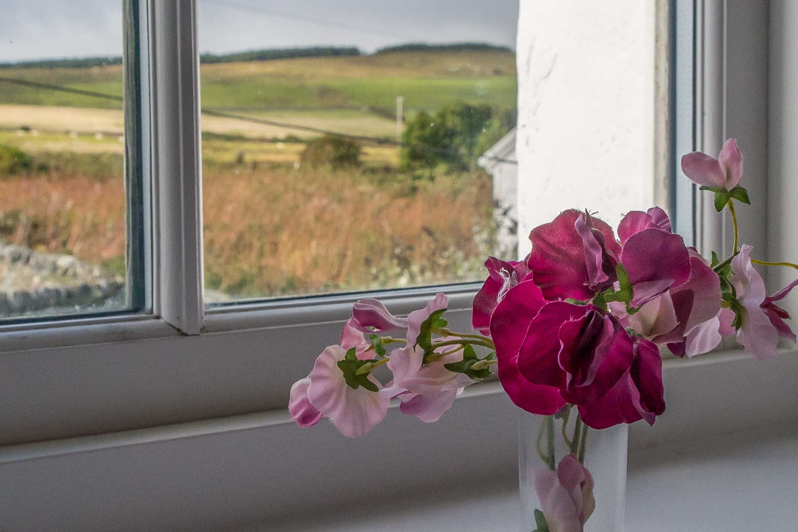 Saligo apartment: views toward Octomore Farm