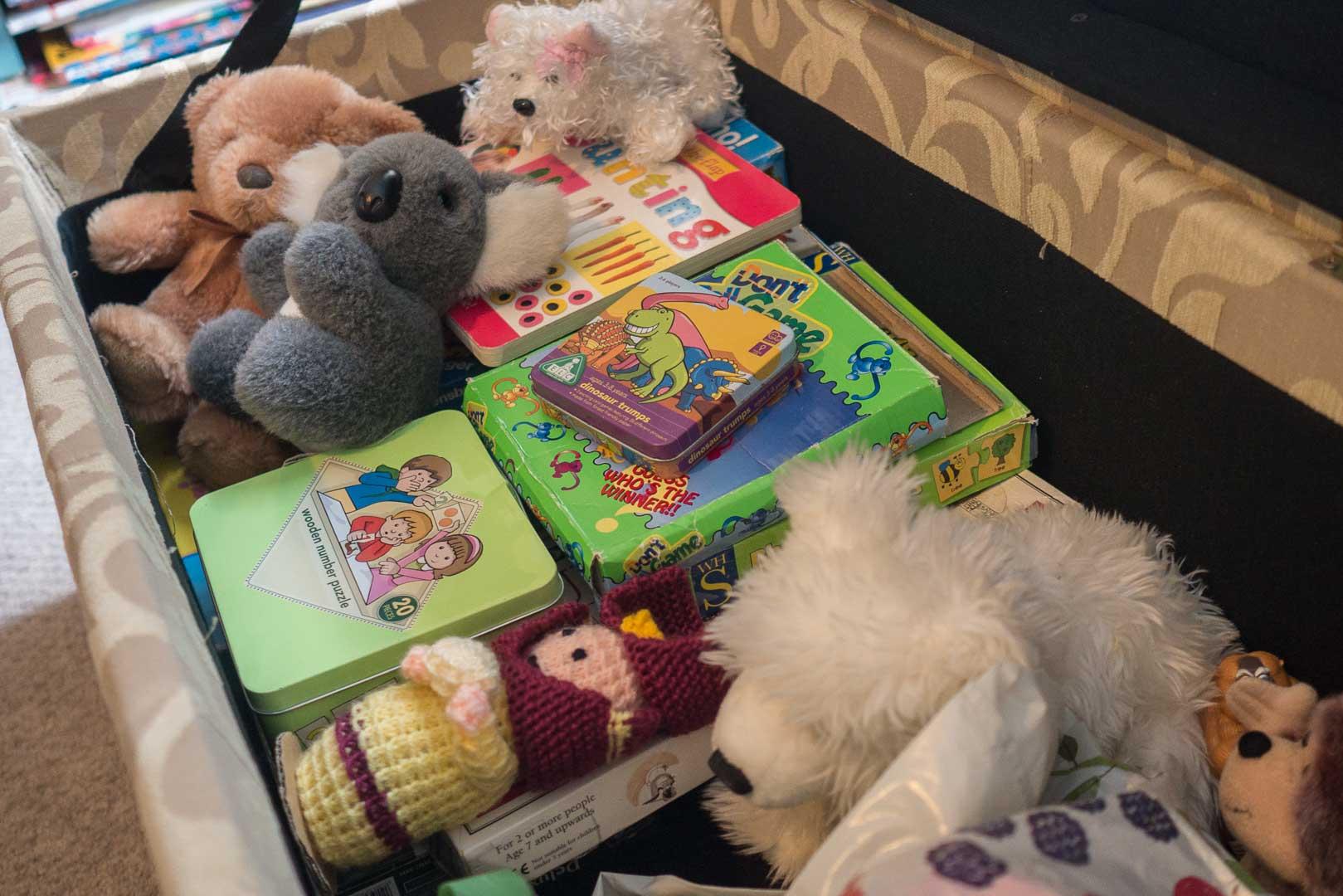 Sanaigmore cottage: we have toys aplenty!