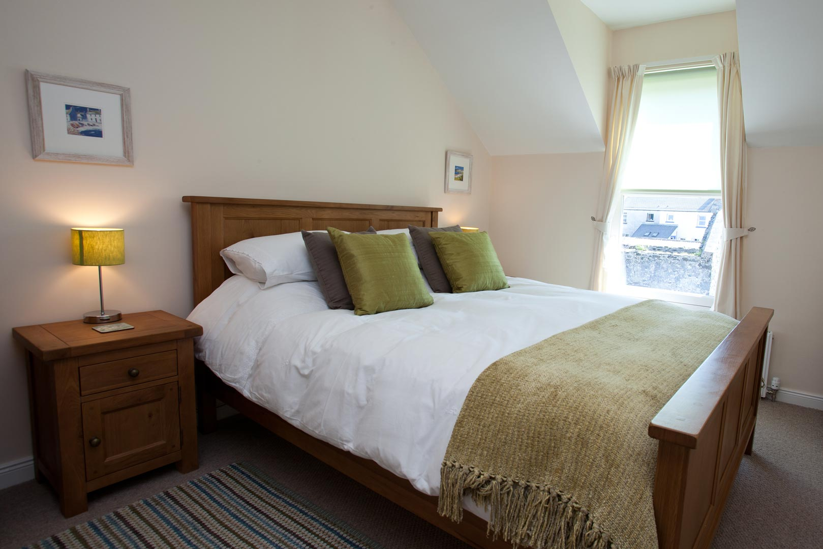 Sanaigmore cottage: one of the double rooms