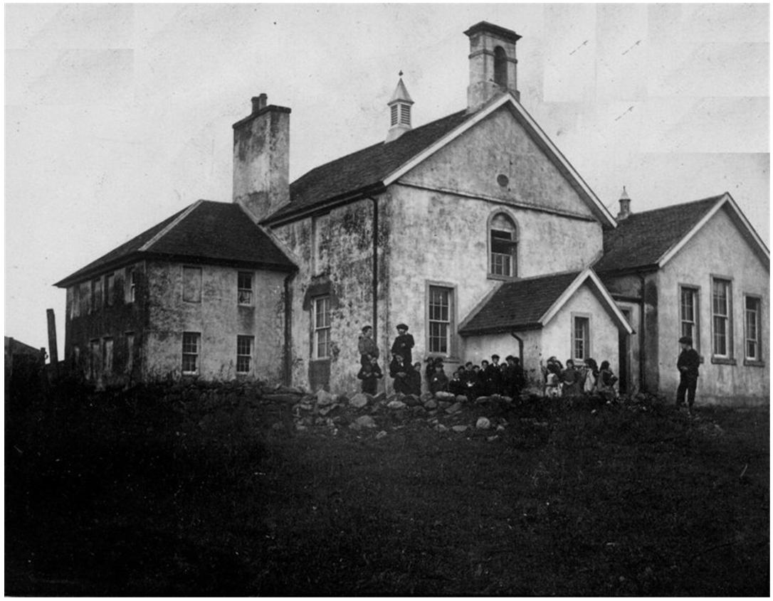 Historic photo of the Hall in use as a school