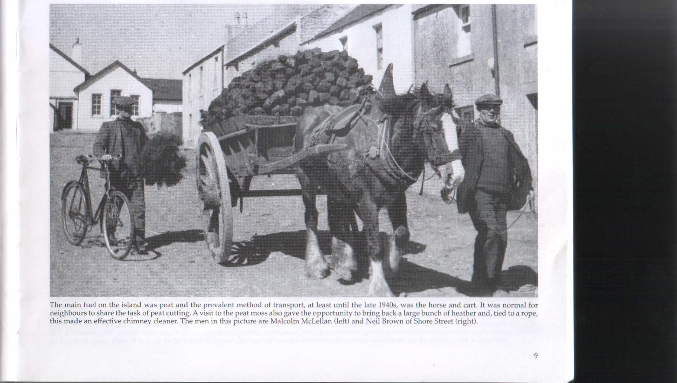 A cart of peats in School Street