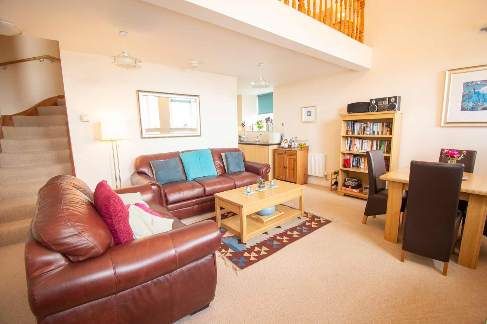 Kilchoman apartment: open plan living area