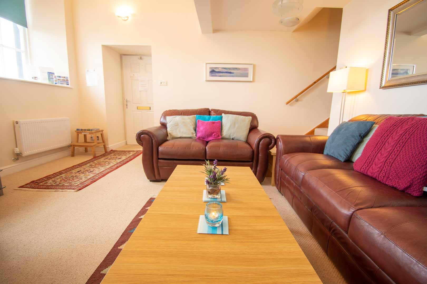 Kilchoman apartment: ground floor living area