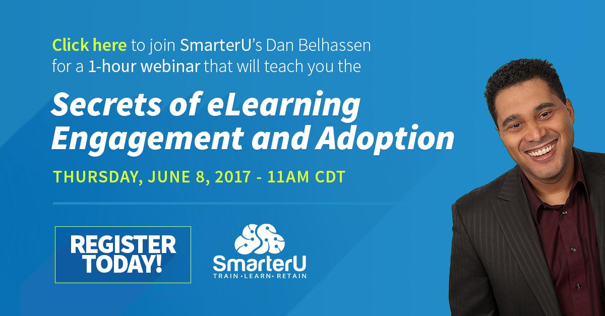 Secrets of Learner Engagement and Adoption Webinar - SmarterU LMS - Learning Management System