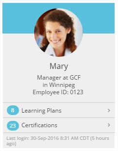 Learner Profile Info - SmarterU LMS - Corporate Training