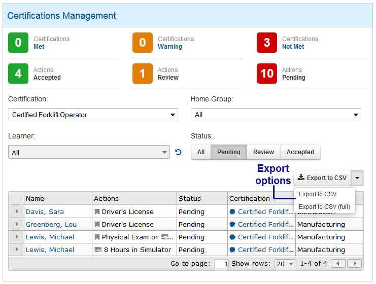 Data Exporting - SmarterU LMS - Learning Management System