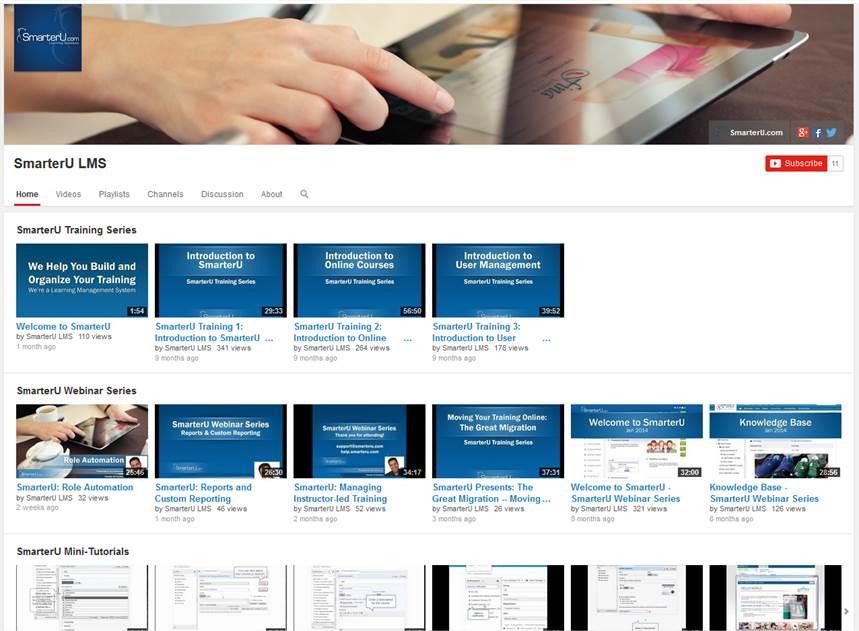 SmarterU YouTube Channel - SmarterU LMS - Learning Management System.