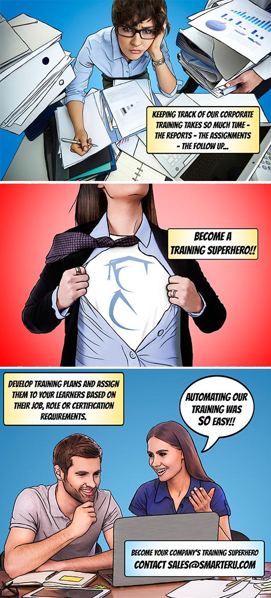 Become a Training Superhero - SmarterU LMS