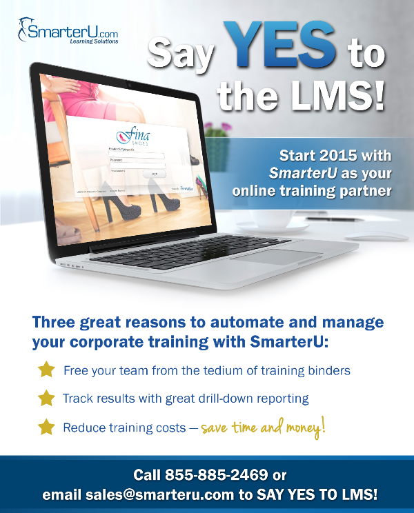 Say YES to the LMS! - SmarterU LMS - Online Training Software.