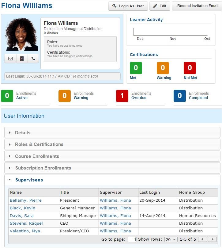 User Management - SmarterU LMS - Blended Learning