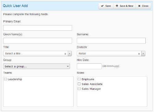 Quick User Add - SmarterU LMS - Learning Management System