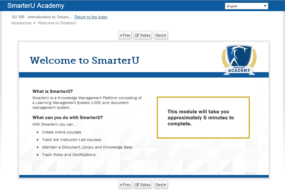 Academy Course - SmarterU LMS - Online Training Software