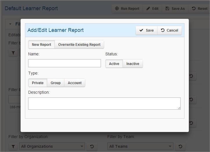 Learner Report - SmarterU LMS - Blended Learning