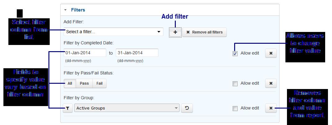 Custom Learner Report Filters - SmarterU LMS - Online Training Software