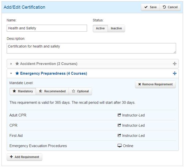 RCR Add Certification - SmarterU LMS - Learning Management System