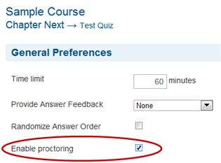Enable Proctoring - SmarterU LMS - Online Training Software