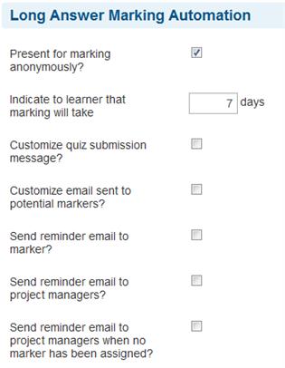 Long Answer Marking - SmarterU LMS - Online Training Software