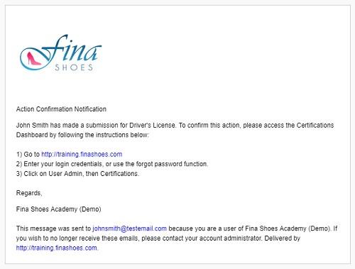 Email Notification - SmarterU LMS - Learning Management System