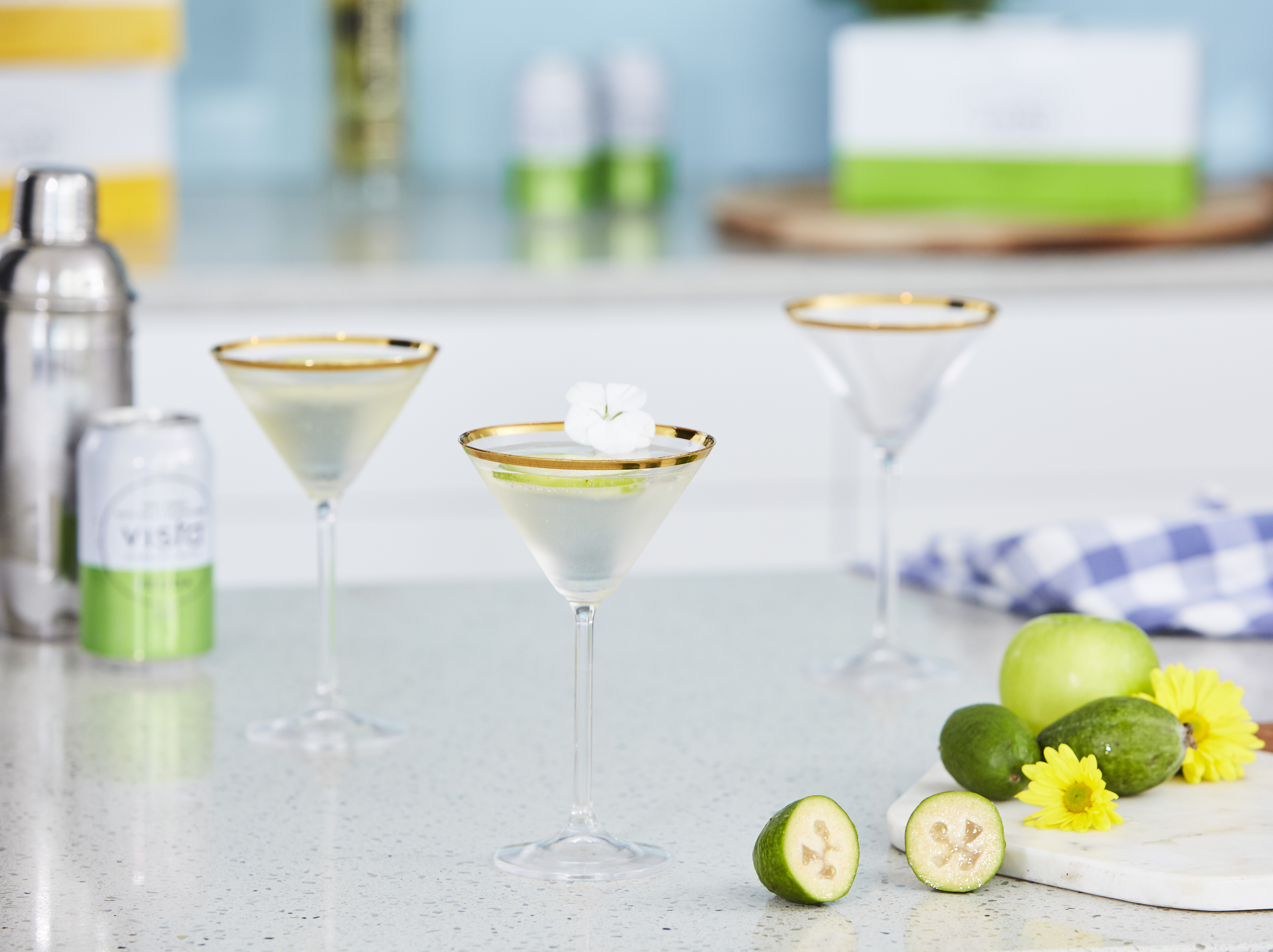 Feijoa & elderflower cocktail by Vista