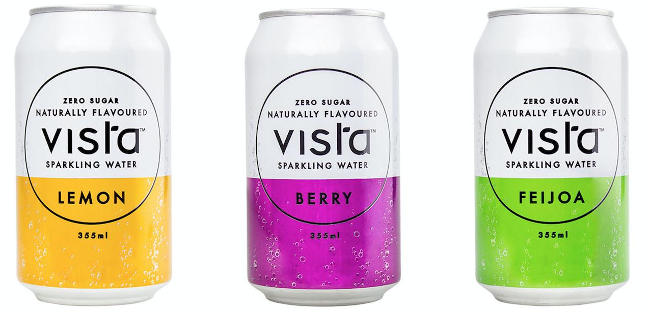 NZ sparkling water by Vista Drinks