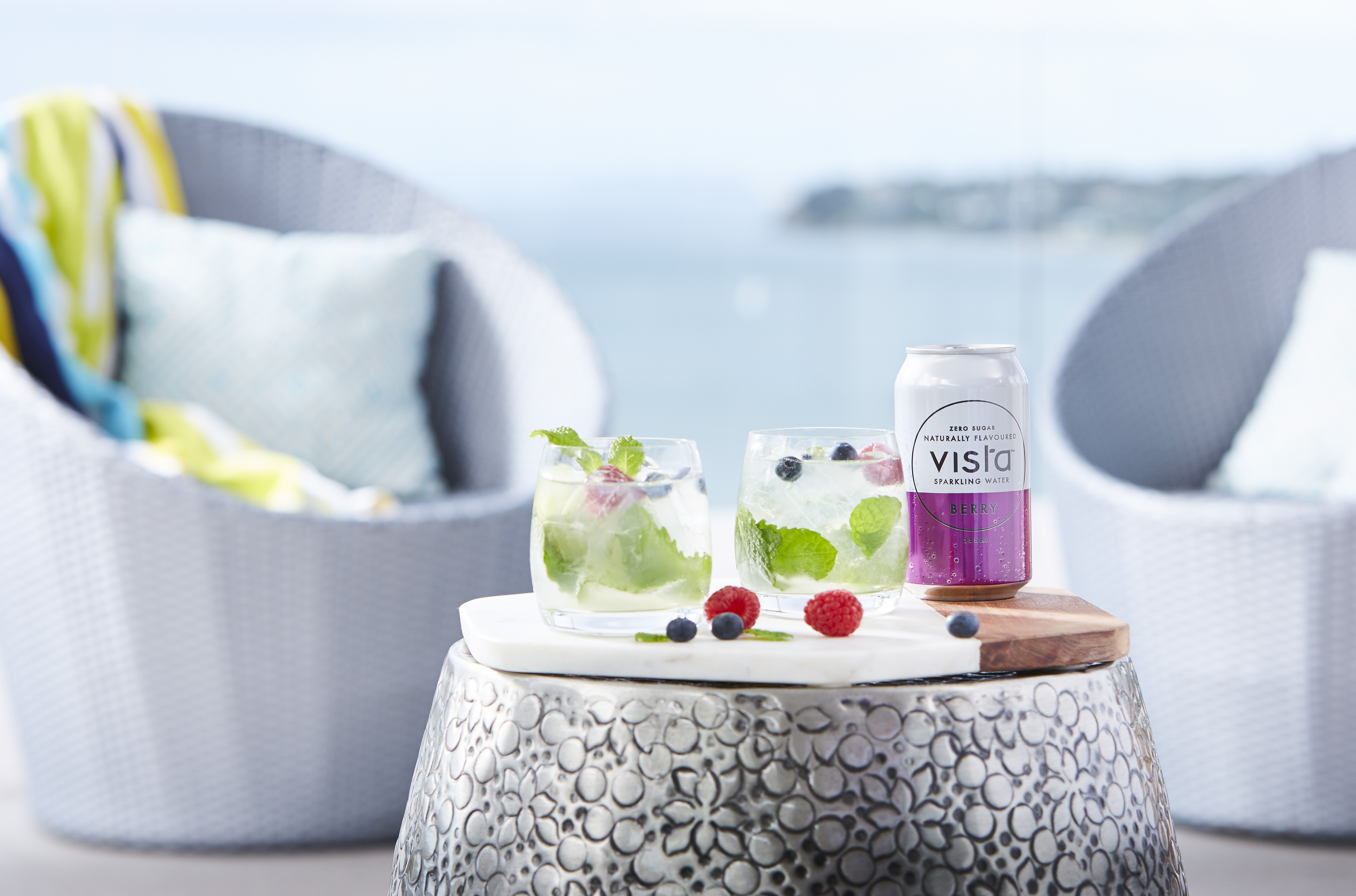 Berry mojito cocktail by Vista
