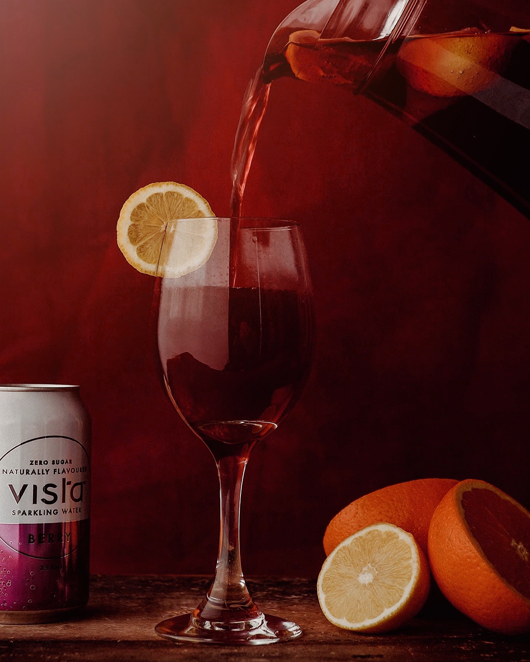 Sangria cocktail by Vista