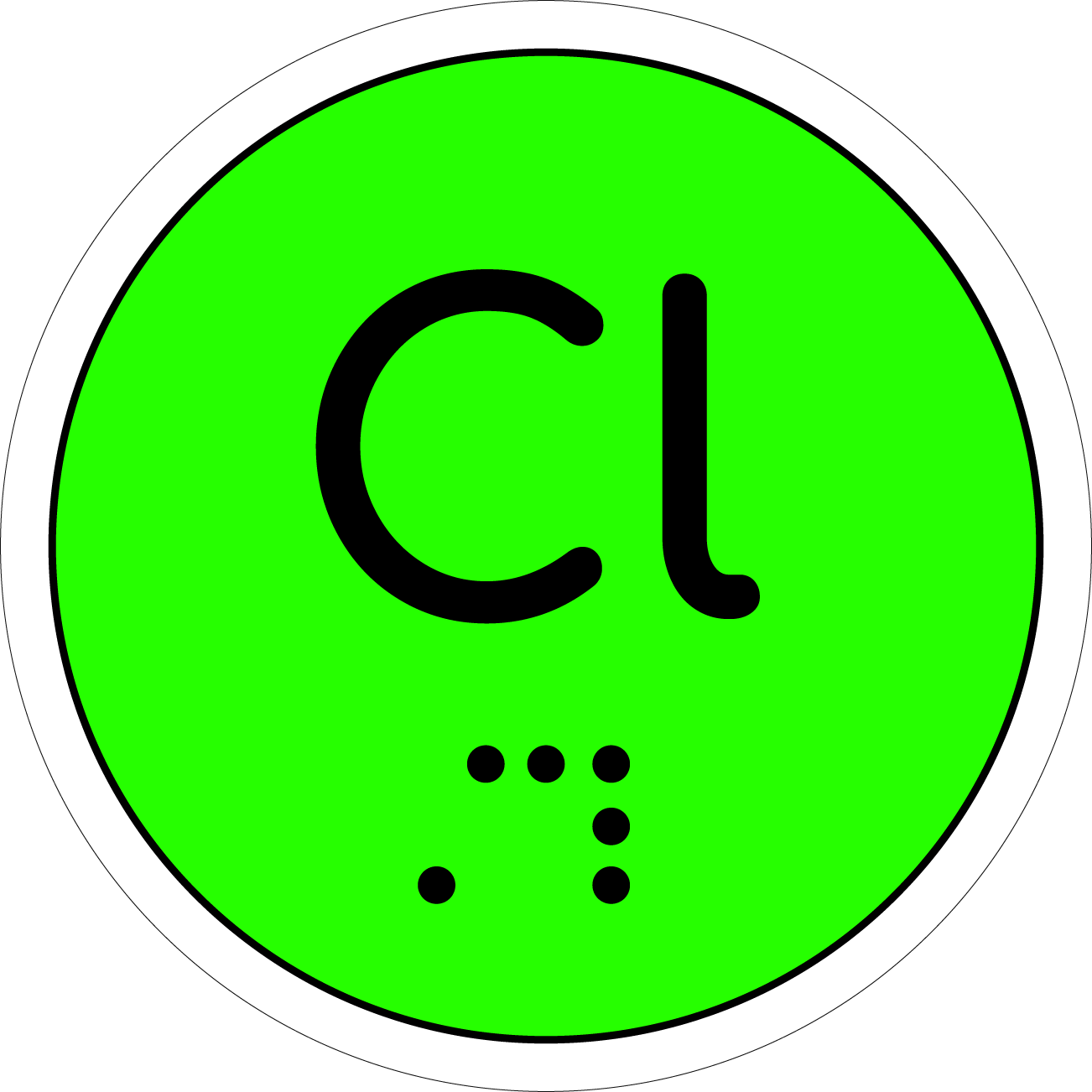 image of lone pairs, a small piece with two extruded dots to indicate the long pairs. The base of the piece has one rounded side and another curved side that fits into the atom pieces.