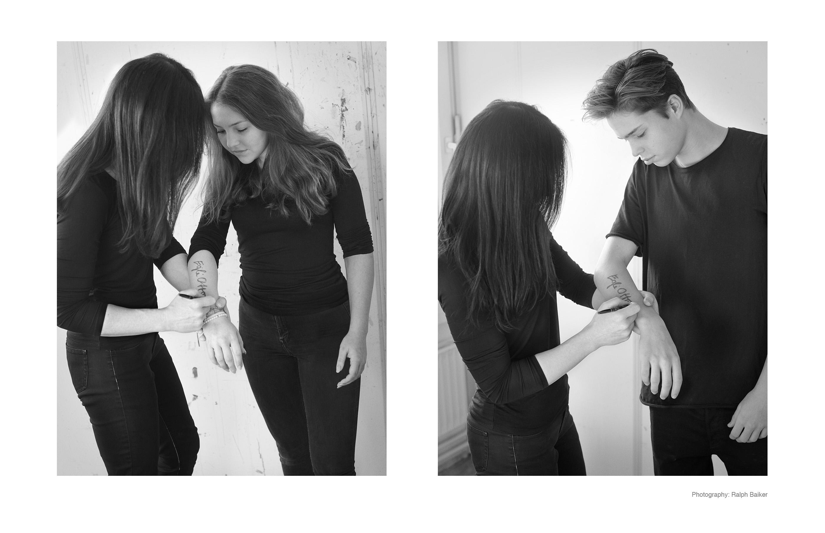 Egle otto, Malerei painting Öl auf Leinwand oil on painting contemporary art contemporary artist Gegenwartskunst Künstlerin female artist female art gender Oil on canvas body signing her kids Signierung kinder unterschreiben