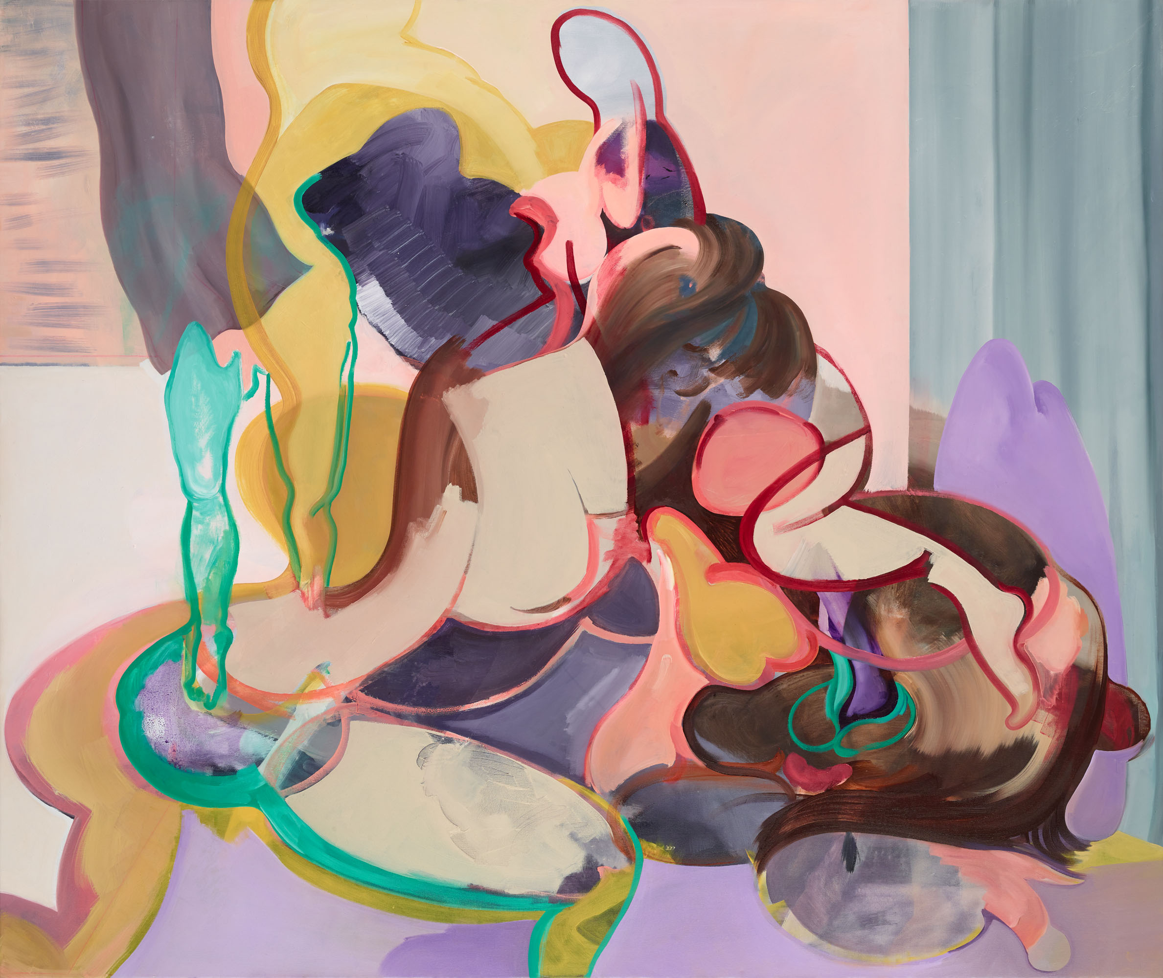 Egle Otto Malerei painting Öl auf Leinwand oil on painting contemporary art contemporary artist Gegenwartskunst Künstlerin female artist female art Oil on canvas body female gaze