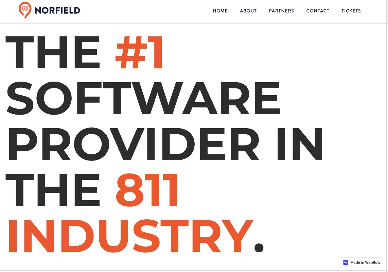 image of a Norfield website homepage.