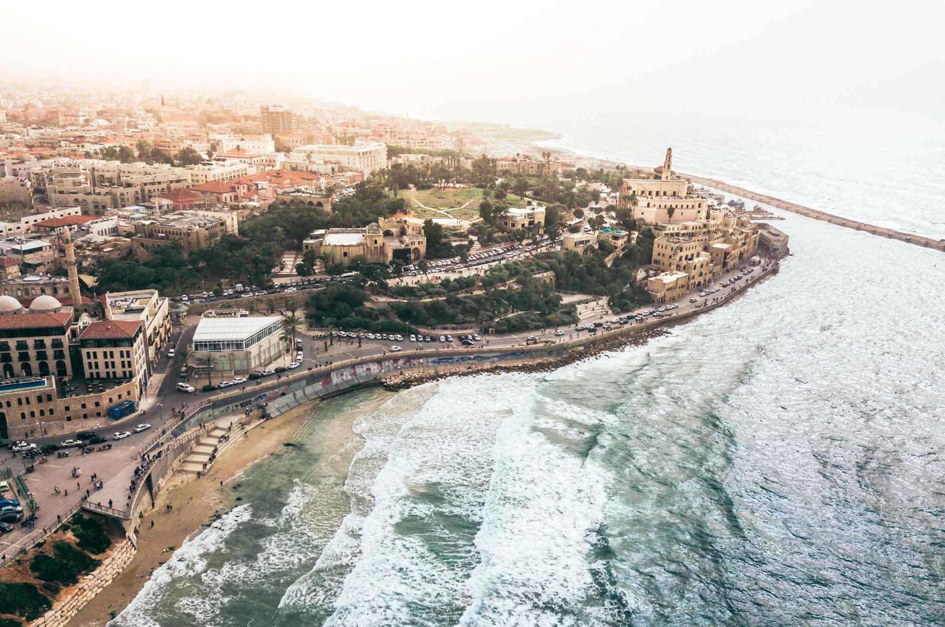 Eine Stadt am Meer in Israel.