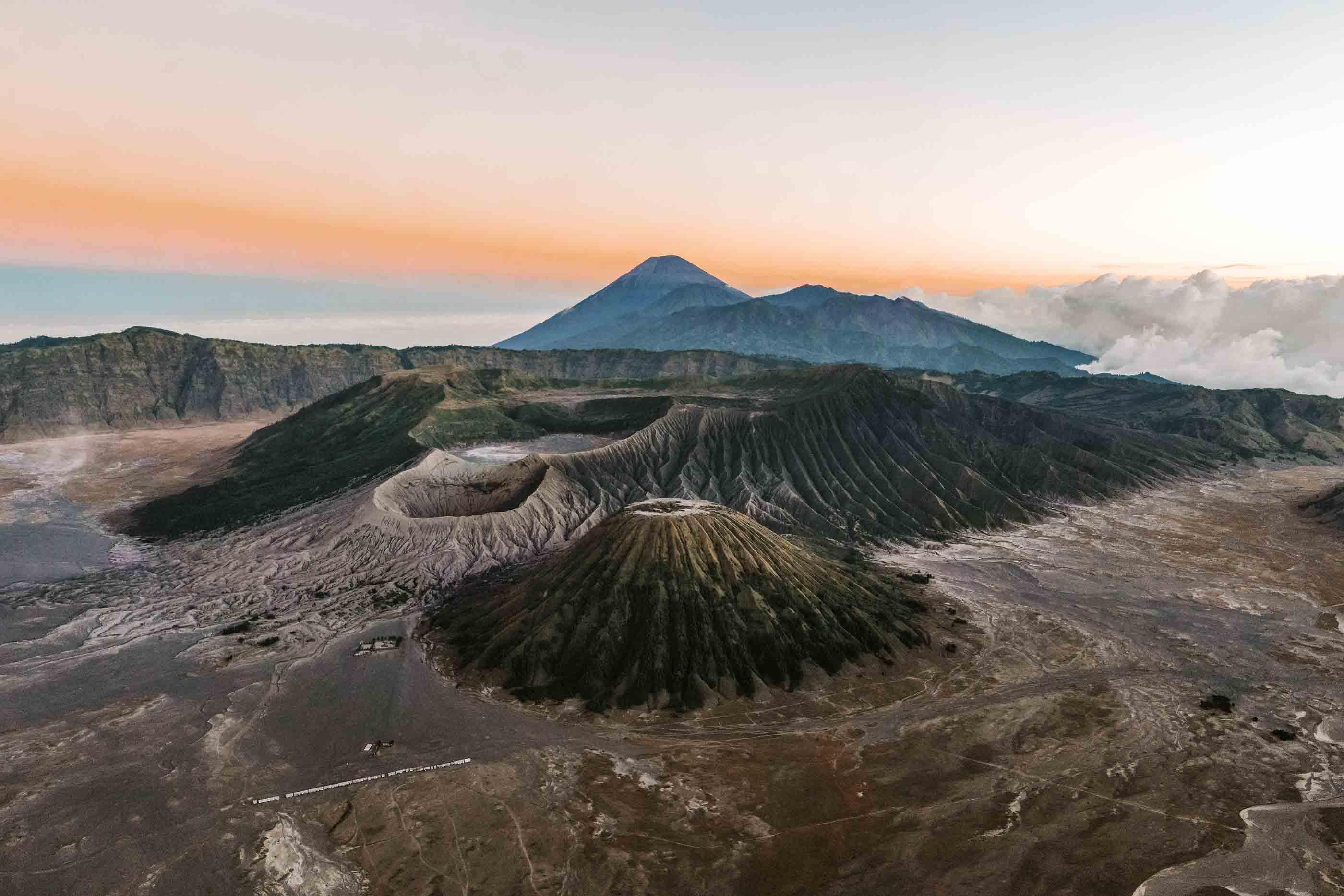Ein Vulkan in Indonesien.