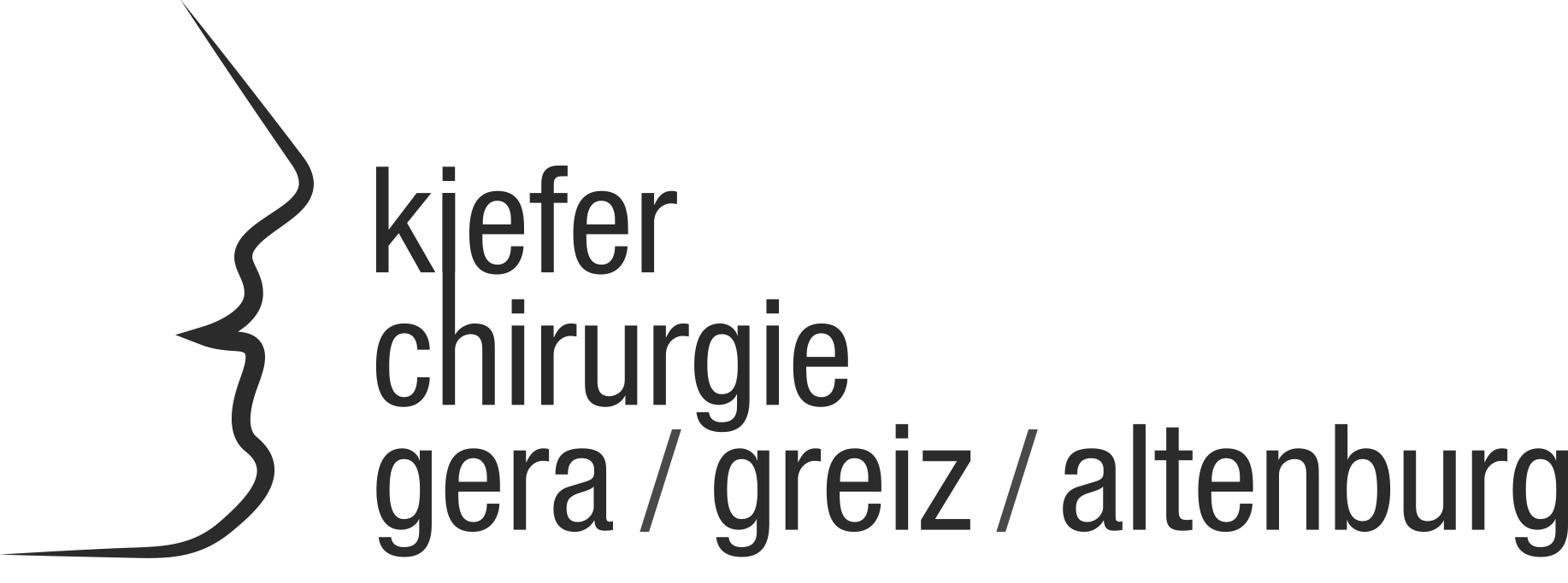 Das Logo der Kieferchirurgie Gera Greiz Altenburg.