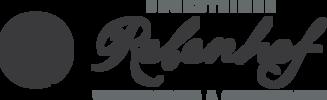 Das Logo vom Backsteines Rebenhof.
