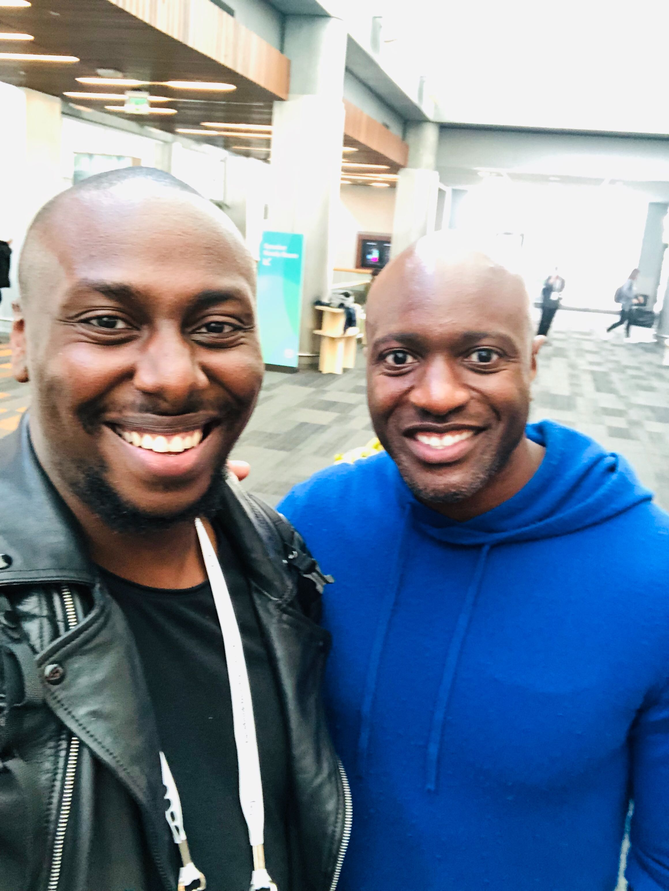 Kelo with Ime Archibong, Facebook's VP of Strategic Partnerships