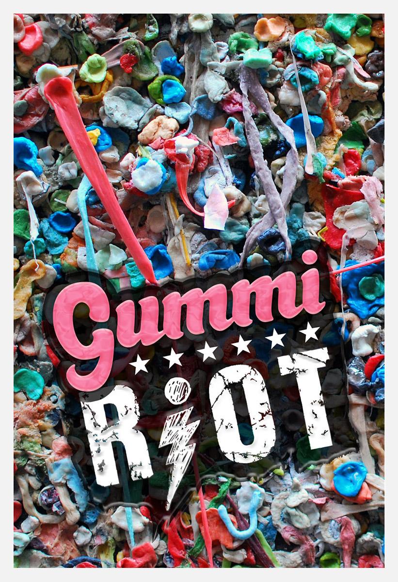 Portlandia Gummi Riot Poster / Design by Heidi Skinner