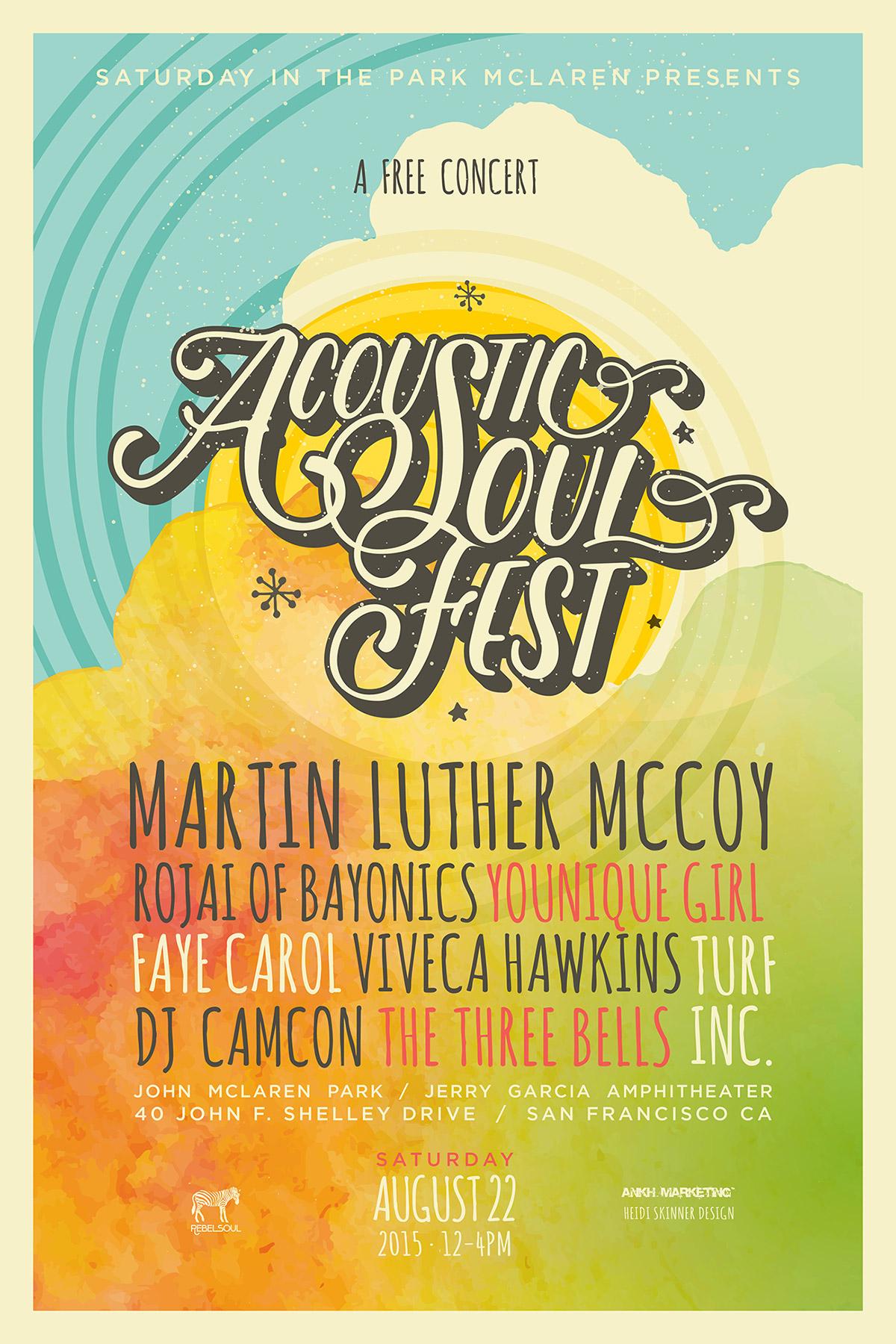 Acoustic Soul Festival poster / Design by Heidi Skinner