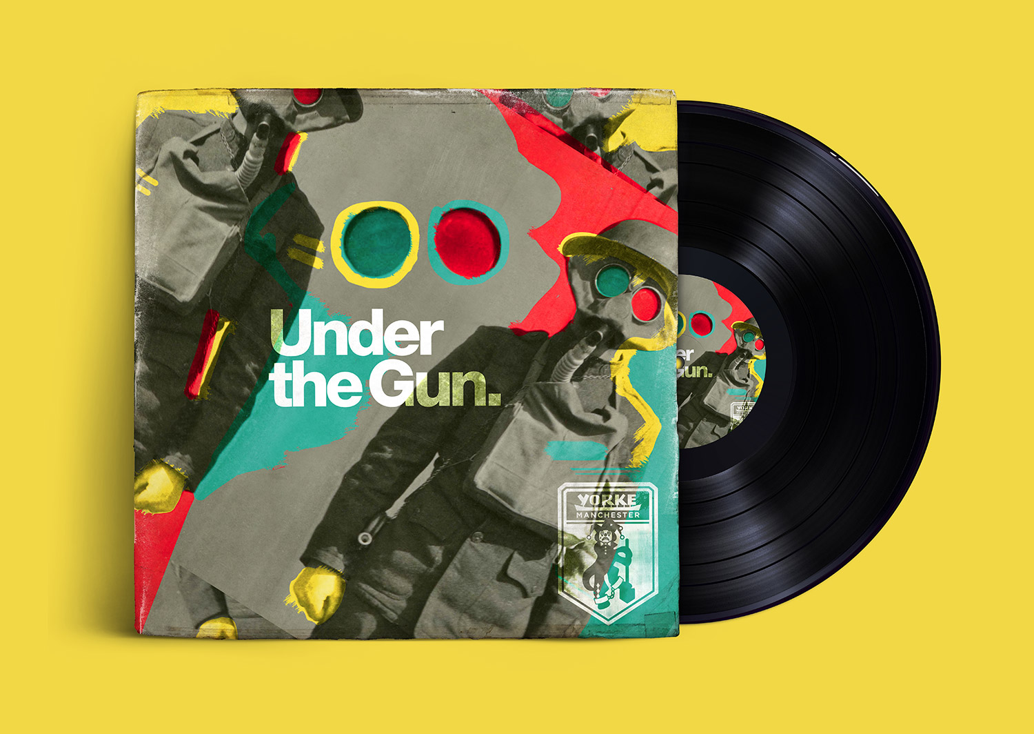 Yorke Manchester / Under the Gun Album Cover / Design by Heidi Skinner