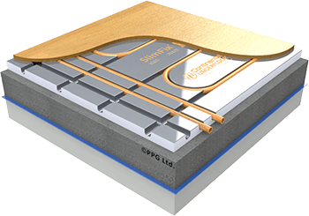 SlimFix™ thin underfloor heating panel