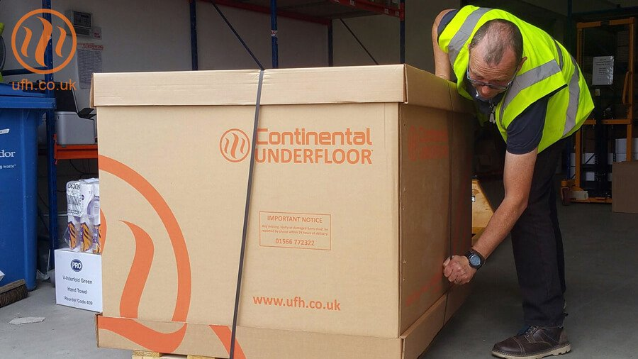 Underfloor heating system delivery