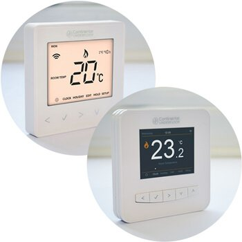 Smart app controlled thermostat for underfloor heating