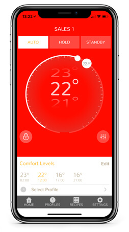 therM wireless thermostat control