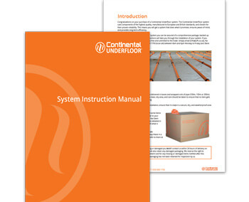 continental underfloor system instruction manual