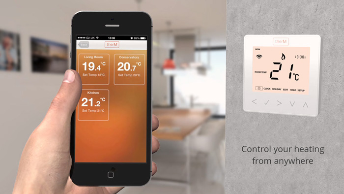 therM smart thermostat video