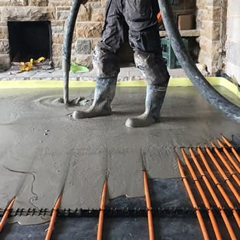 Solid floor underfloor heating