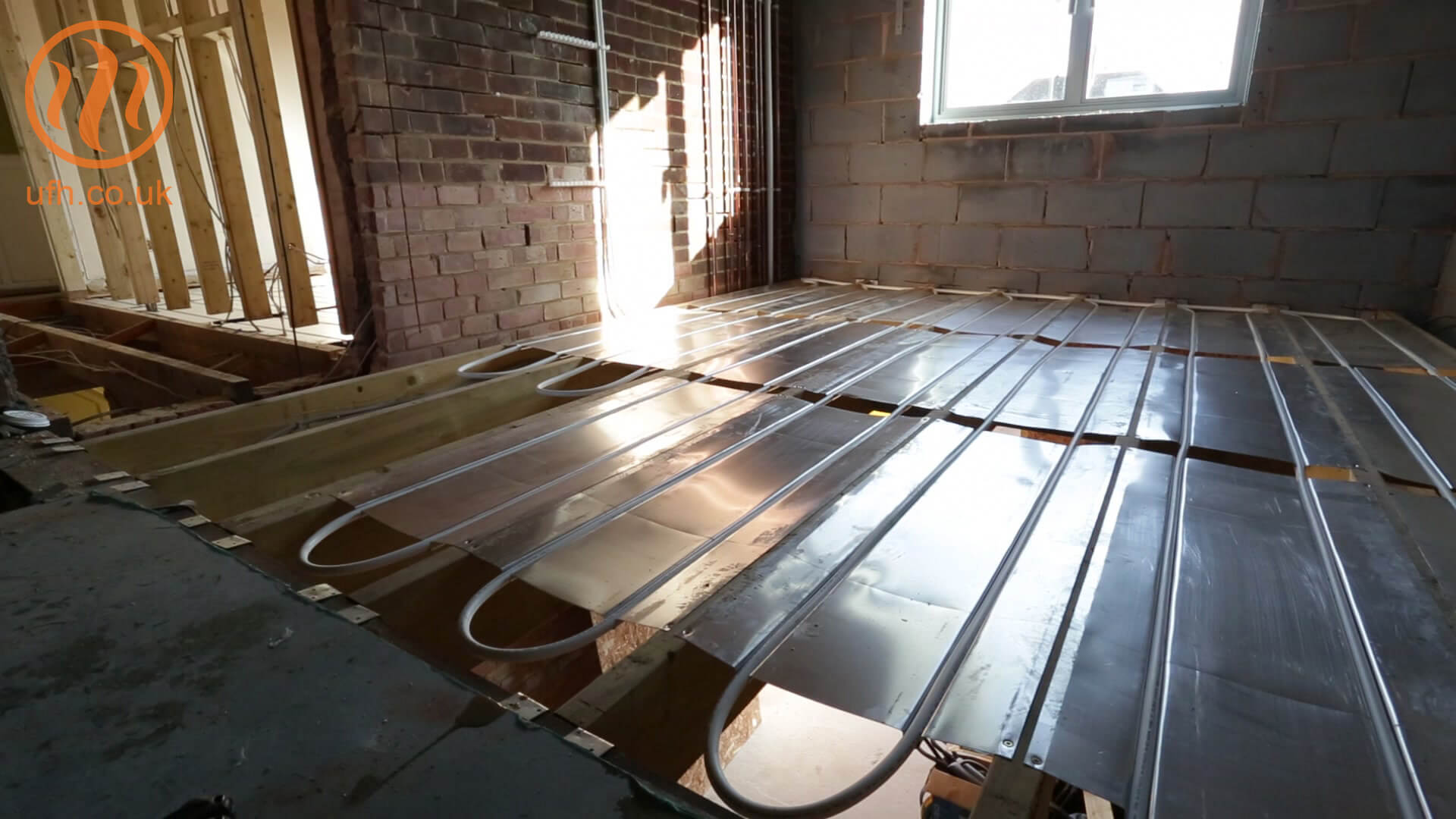Underfloor heating first floor AluPlate™ install