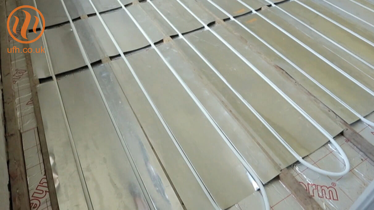 UFH fit-from-above AluPlate™ installation