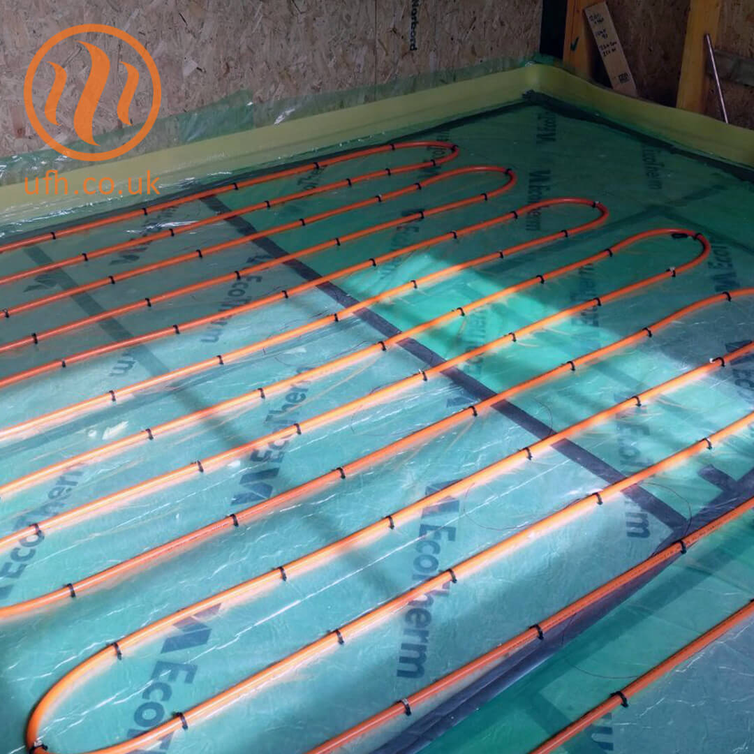 Extending an existing underfloor heating system